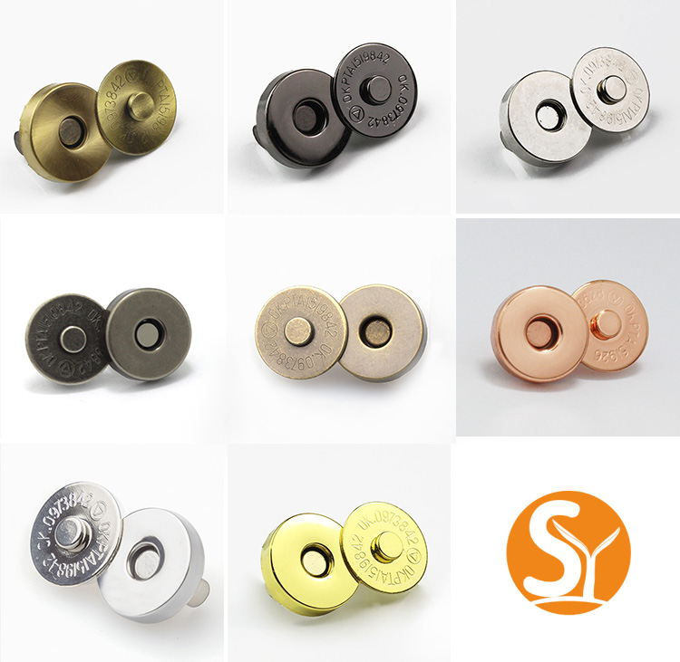 round magnetic clasp button bag fastener wholesale 18mm ultra thin magnet button