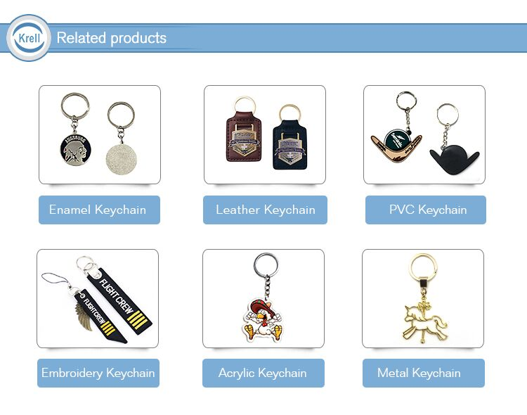 Custom Eco-friendly Cute Anime Shape Plastic Clear Acrylic Charm Keychain for Hotel