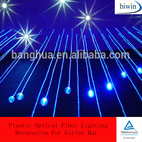 Plastic Optical Fiber Lighting Decoration For Coffee Bar