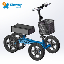 Four Wheeled All Terrain Knee Walker Scooters With Drum Brake