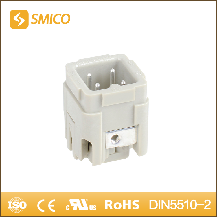 SMICO High Quality Harting 230V/400V Working Voltage Mini Male 4 Pin Heavy Duty Connector