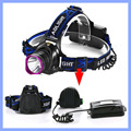High Bright 2000LM 3 Modes Headlamp XM-L T6 LED Rechargeable Headlight Waterproof Outdoors Sports Camping Light