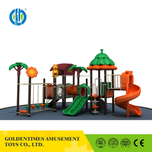 Low price eco-friendly new design outdoor playground equipment with slide