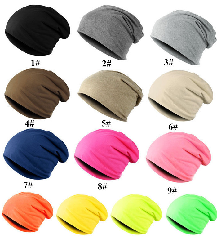 New Fashion Men Women Beanie Top Quality Solid Color Hip-hop Slouch Unisex Knitted Cap Winter Hat Beanies Dark Blue