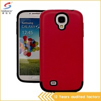 Flexible price red color pc+tpu phone armor case for galaxy s4 mini