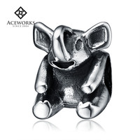 Top quanlity european charm for bracelet elephant charm old fashioned charm bracelets