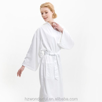 white kimono microfiber plush with terry inside contain 100%cotton natural material hot sale around world for beautiful women