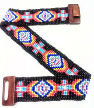 Wooden stretch indian beaded belts
