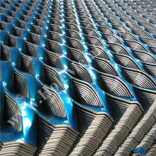 expanding metal mesh for decoration of ceiling wall cladding facade with powder coating
