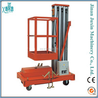 Hydraulic single column aluminum alloy man lift