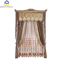 modern european style home textile brown home window curtains