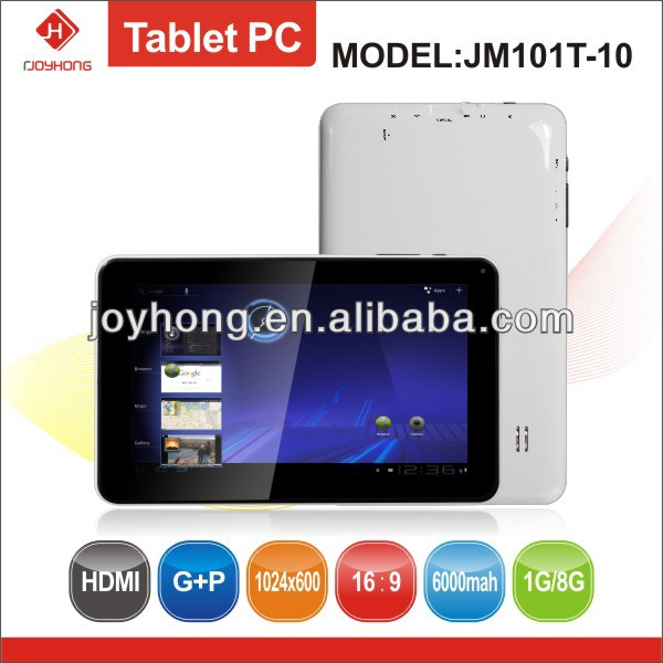 10.1 inch RK3168 Tablet PC with 1024*600 Pixels