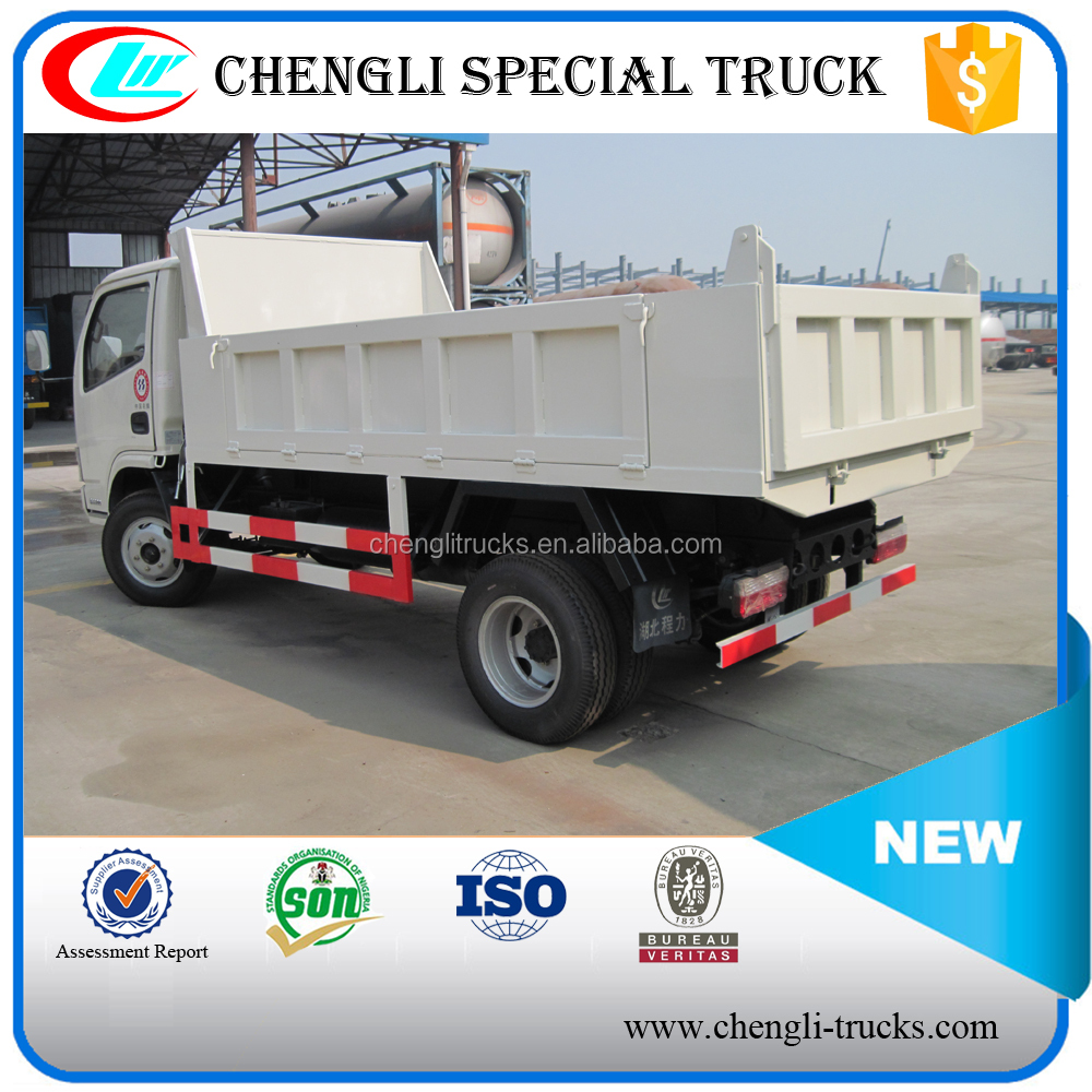china supplier 4 ton loading 5cbm capacity 6 wheeler 4*2 type right hand drive dongfeng mini dumper truck sale