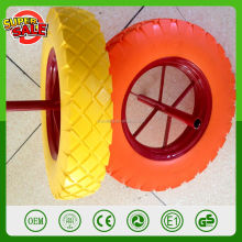 16'' 400-8 cheap spoke style wheelbarrow wheel solid rubber hard PU foam wheels for seal barrow part WB6400 wheels
