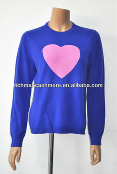Cashmere Knitting Patterns Intarsia Sweater For Ladies - Buy Intarsia Sweater...
