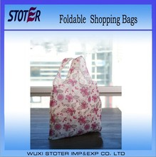 wholesale reusable flower foldable shopping bag