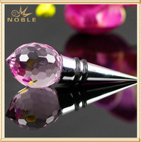 Custom Made Elegant Pink Crystal Wine Bottle Stopper for Wedding Gift