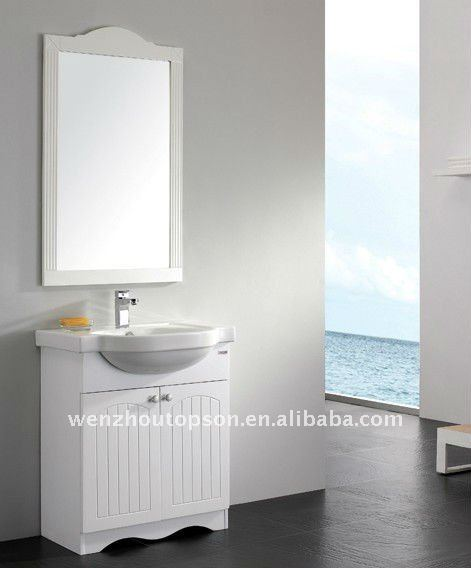 New design style PVC bathroom towel cabinet,Simple bath cabinet with glass vanity top
