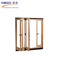European design aluminum frame folding door bi fold laminated glass door