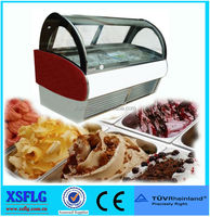XSFLG Stainless steel ice cream display freezer 20 pans