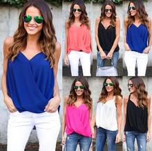 Ladies western girl's fashion tank tops new sexy blouse woman chiffon shirt