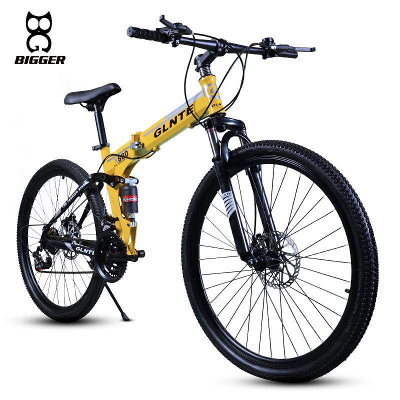 variable speed 26 inch steel frame folding bicycle mountain bike