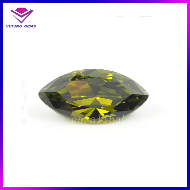 High Quality Synthetic Loose Gemstone CZ/Factory Price Marquise Cubic Zircon/Peridot Marquise Cubic Zirconia