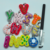 Colored alphabet letters plush toy wholesale plush keychain