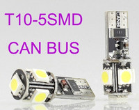 T10 5SMD CanBus, led car light 5SMD, 5050 194 W5W LED Car Lights Bulb with canbus and error free