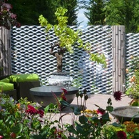 Decorative Expanded Metal Panels for Garden Fencing/Trellis/Gates
