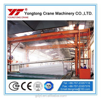 Double girder aluminum warehouse crane