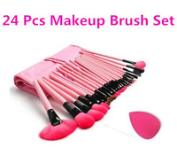Cosmetic Brushes Kit 24 Pcs Makeup Brush Set, Wooden Handle Makeup Brush Tool