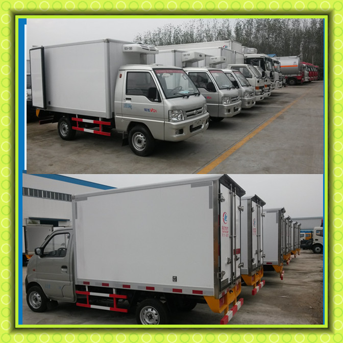 FOTON Small Refrigerator Truck Thermo King Meat Transportation Cooling Van Truck 4x2 Freezer Truck For Sale