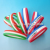 Wholesale Fashion Gifts 1/2 inch World Cup Tricolors Stripe Colors Layer Sport Country Flag Customized Silicone Wristband