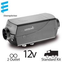 Eberspacher Airtronic D2 12v - 2 Outlet, Standard Kit with Silencer