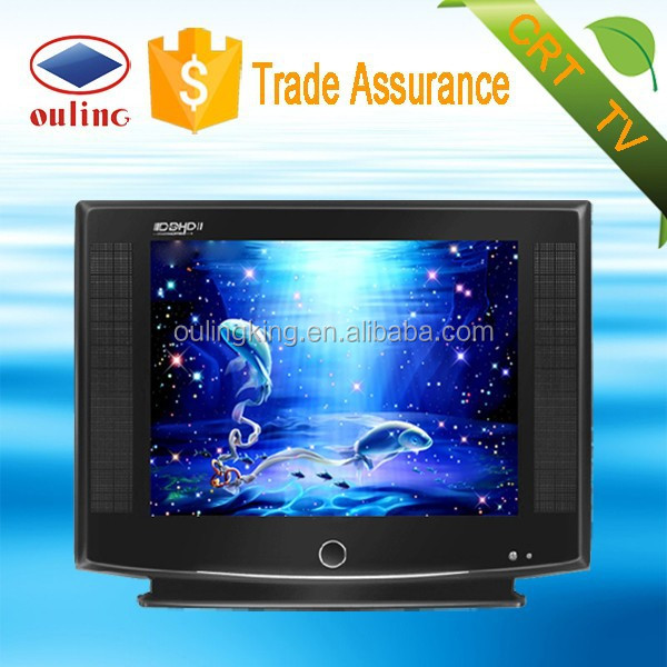 full hd 21 inch ultra slim pure flat crt tv with usb for crt tv