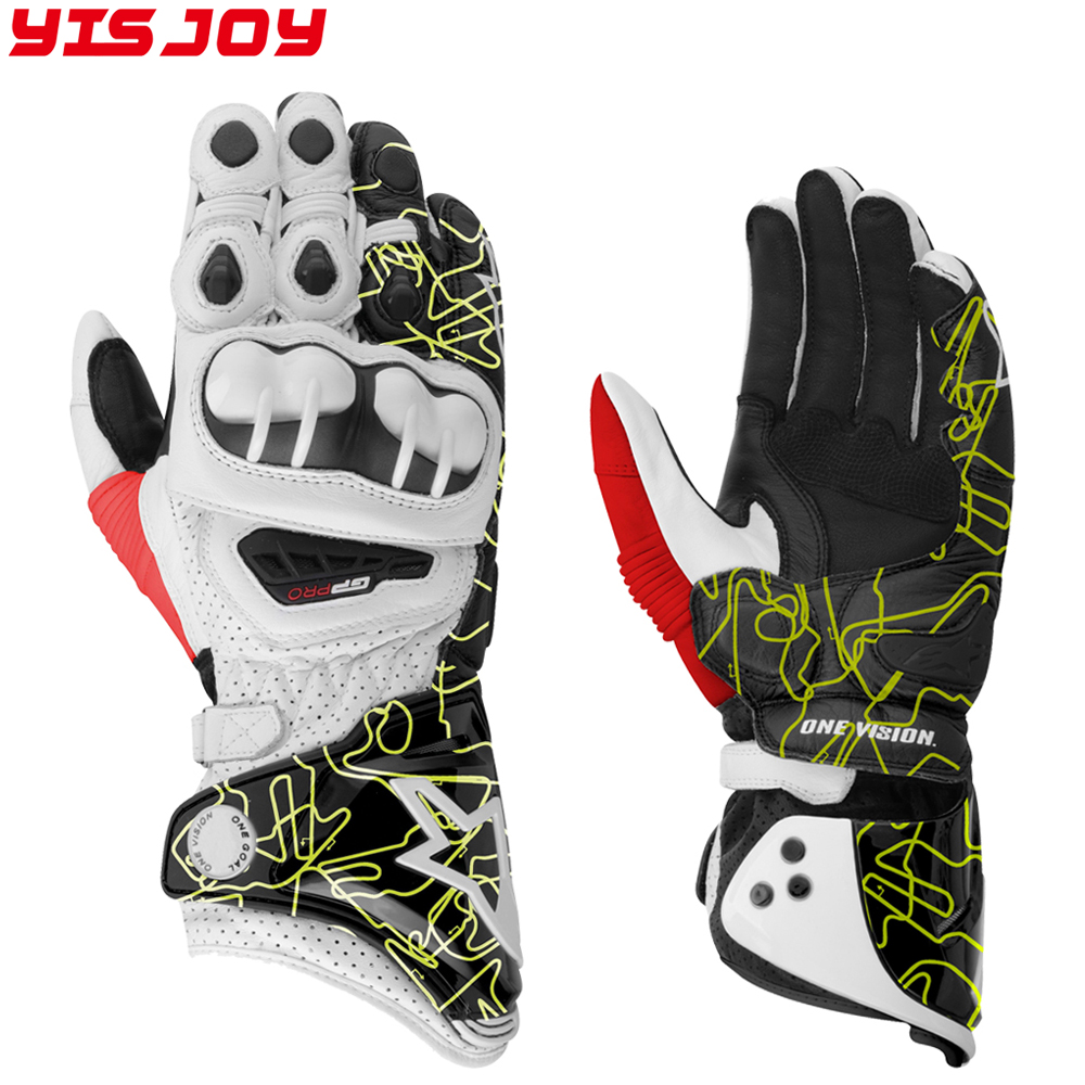 2017 Motorcycle Gloves GP PRO Real Leather Glove Waterproof Cycling Racing Moto Motorbike Glove
