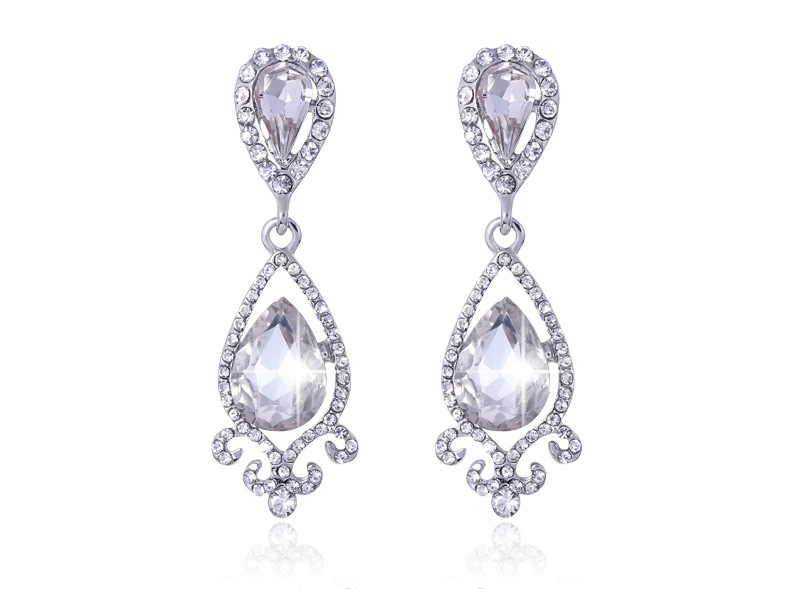 Korean diamond pearl earrings earrings long Lady Earrings mix a variety of color BA075-A