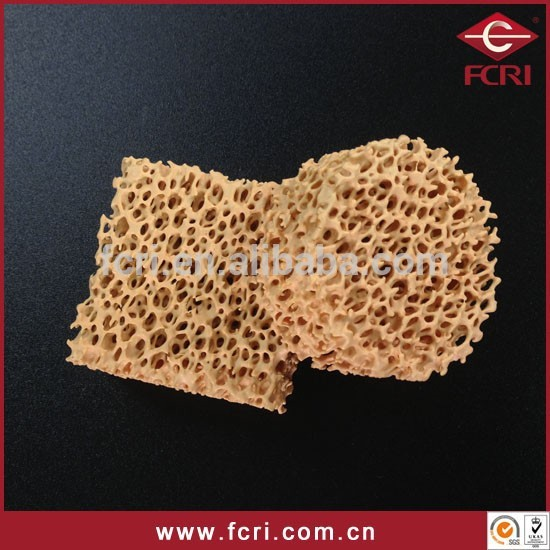 zirconia ceramic foam filter 10 ppi