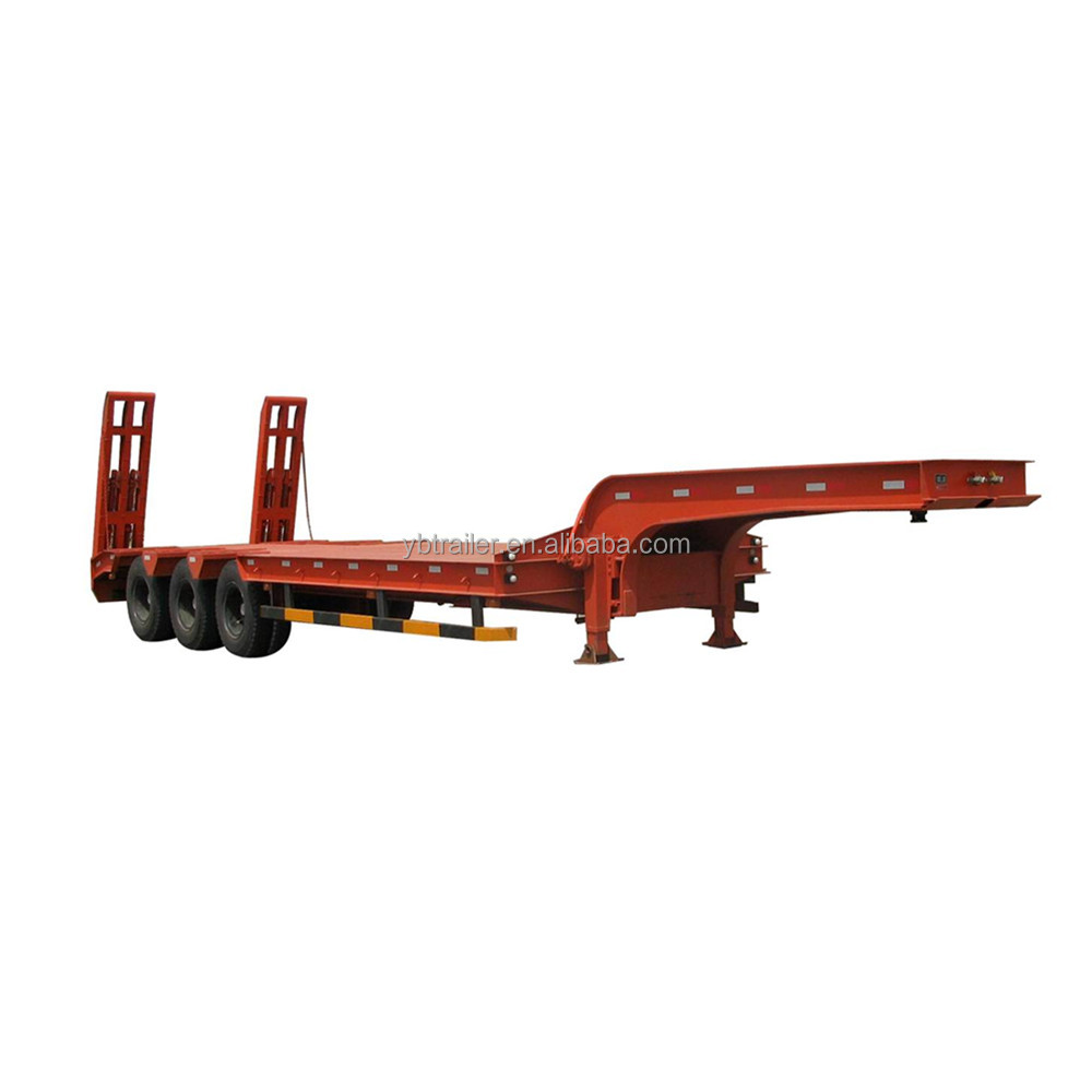 Factory cheap price Heavy duty 3 axles Low Bed semi trailer Truck Trailer