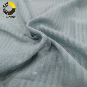 striped design plain dyed thin moss crepe voile chiffon woven fabric