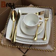Guangzhou supplier wedding dinnerware <strong>plates</strong> gold rim bone china dinner set fine
