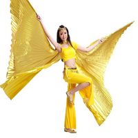 2016 High Quality Egyptian Opening Isis Wings Belly Dance Accessories Wing Brand New 8 Colors Available