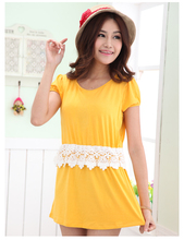 summer elegant hot styles online fashion wholesale yellow nursing dresses