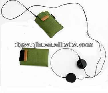 hot sale non woven felt cell phone case