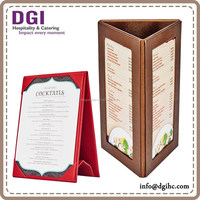 2 Side / Triangle restaurant menu display stand / restaurant menu card holder