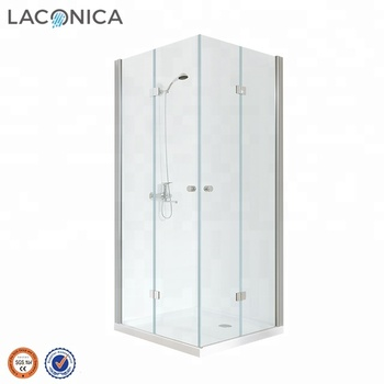 China Wholesale Square 4 Pivot Glass Shower Cubicle with CE