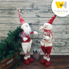 polular design christmas santa snowman dolls stander for christmas decoration