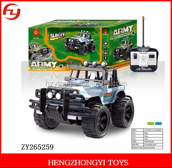popular item car toy, 1:16Jeep army Wrangler four rc car