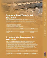 Synthetic Heat Transfer Oil, PAO Base Synthetic Air Compressor Oil PAO Base